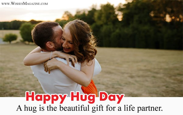 Happy Hug Day Wishes For Husband Wife