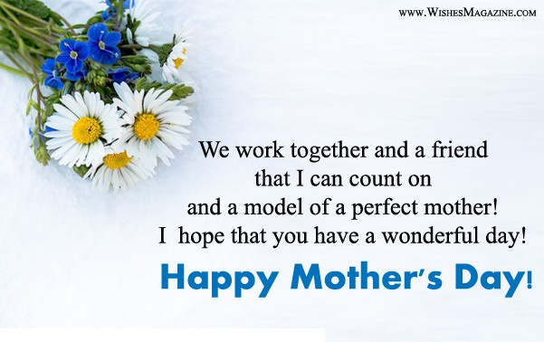 Happy Mother's Day Wishes Messages For Colleagues & Coworkers