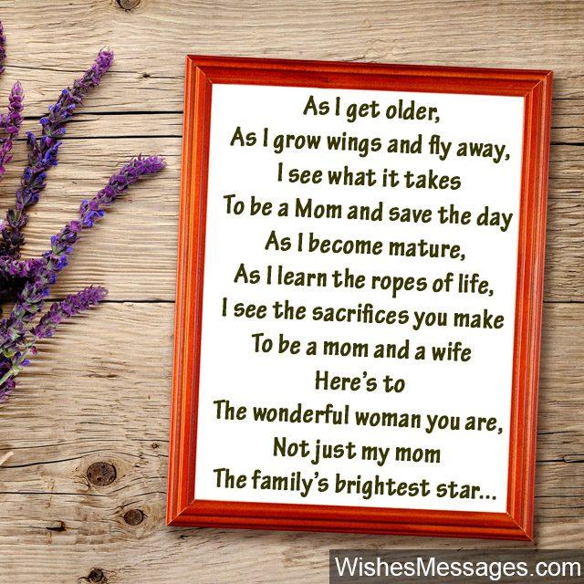 Birthday Poems for Mom  WishesMessagescom