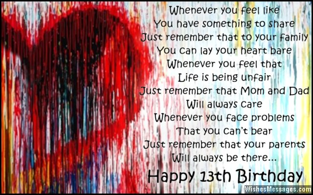 13th Birthday Wishes For Son Or Daughter – WishesMessages Com