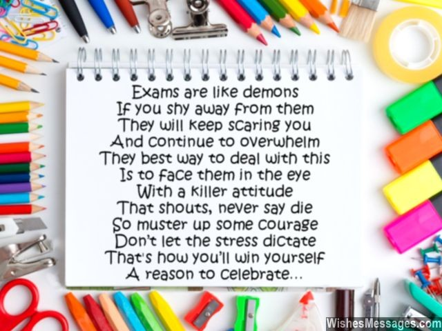 Inspirational Exam Poems Best Wishes and Good Luck