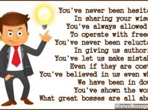 Thank You Poems for Boss: Notes to Say Thank You – WishesMessages.com