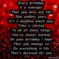 Inspirational happy birthday poem for 40 year olds