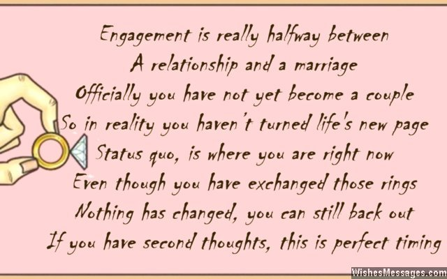 funny engagement card poems
