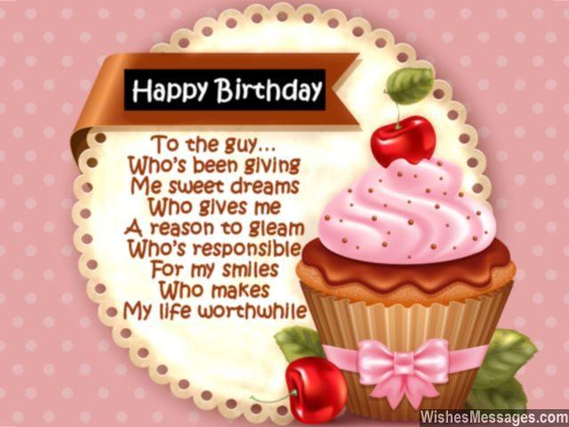 Birthday Poems For Boyfriend – WishesMessages Com