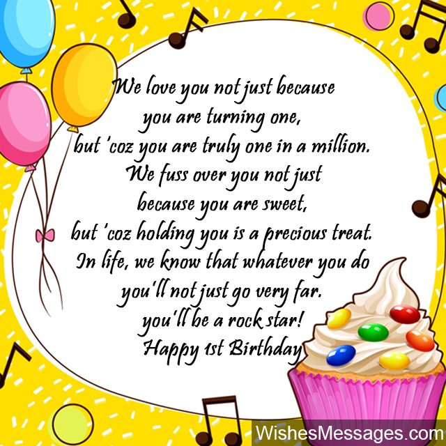 1st birthday wishes first