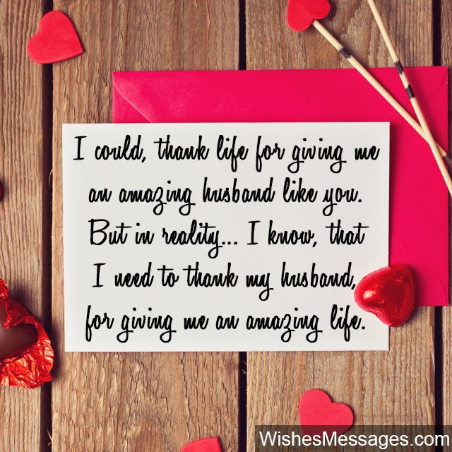 Download Thank You Messages for Husband: Quotes and Notes for Him ...