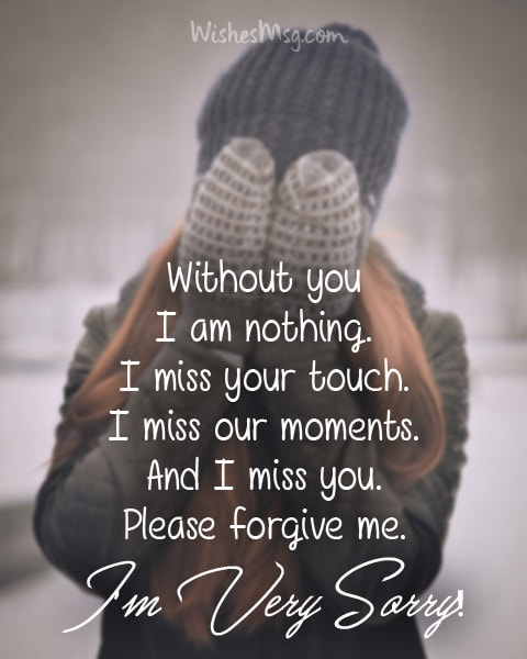 Im Sorry Quotes For Wife : sorry, quotes, Sorry, Messages, Boyfriend, Apology, Quotes, WishesMsg