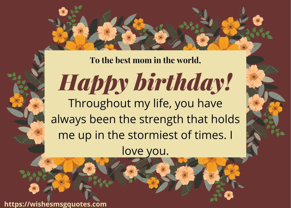 Inspirational Birthday Quotes For Mom