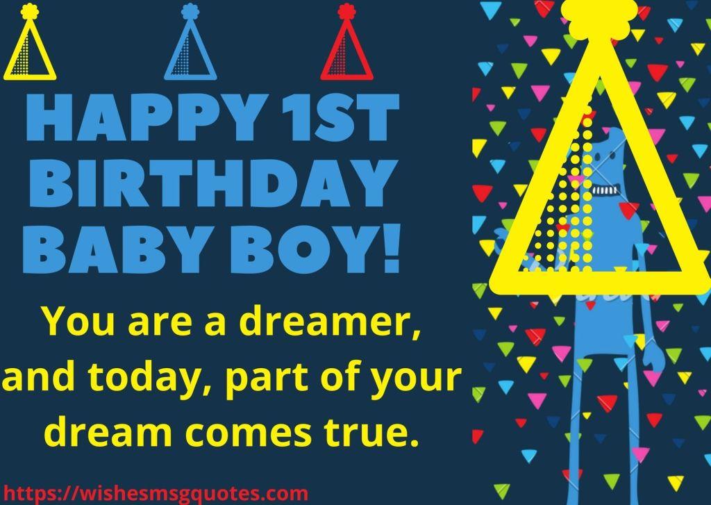 Birthday Quotes For Baby Boy 1st Birthday