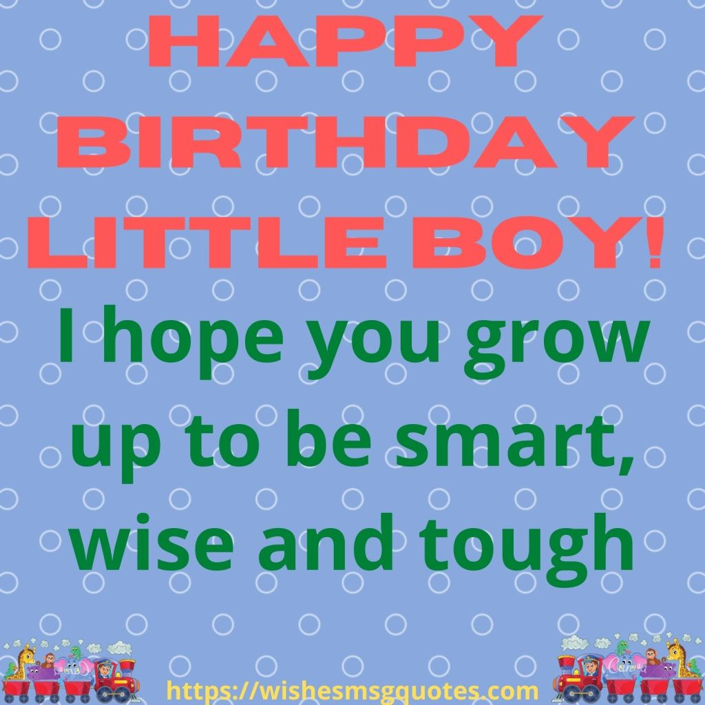 Birthday Wishes From Uncle To Baby Boy