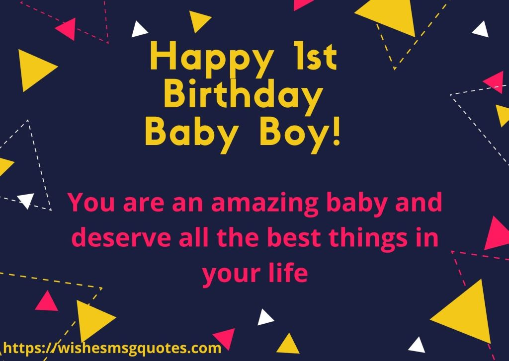 Birthday Messages For Baby Boy 1st Birthday