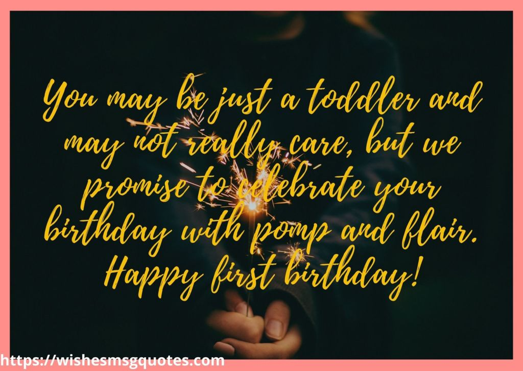 1st Birthday Wishes From Grandmother To Baby Girl!