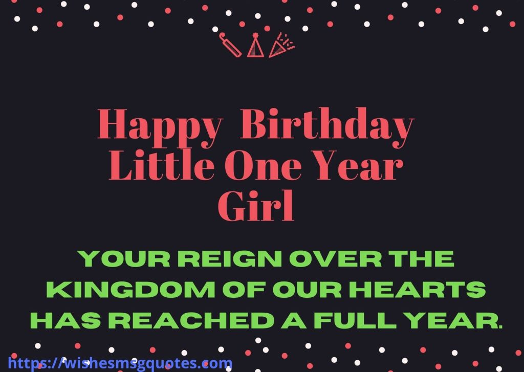 Happy 1st Birthday Wishes For Granddaughter