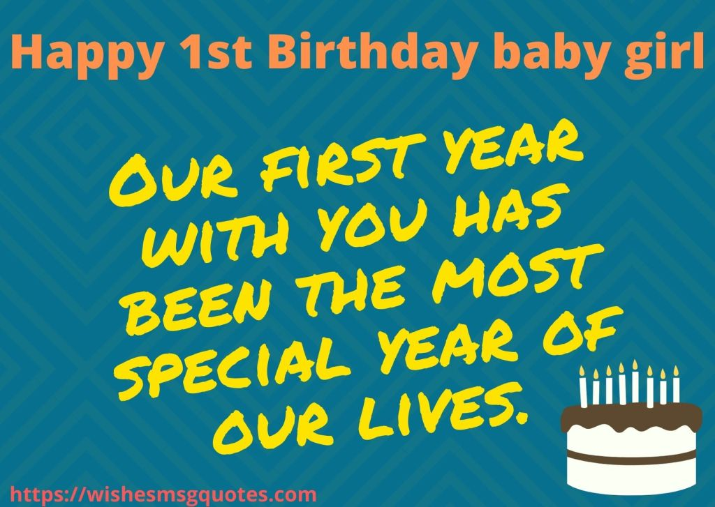 1st Birthday Messages From Father To Baby Girl