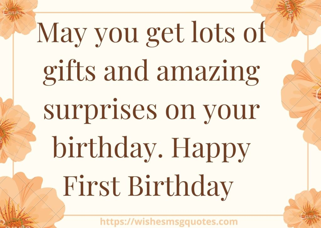 Cutest 1st Birthday Quotes For Baby Girl From Father