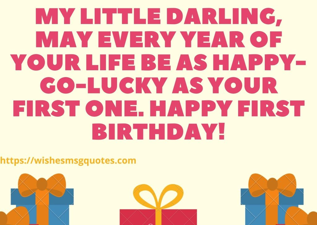 1st Birthday Quotes For Baby Girl