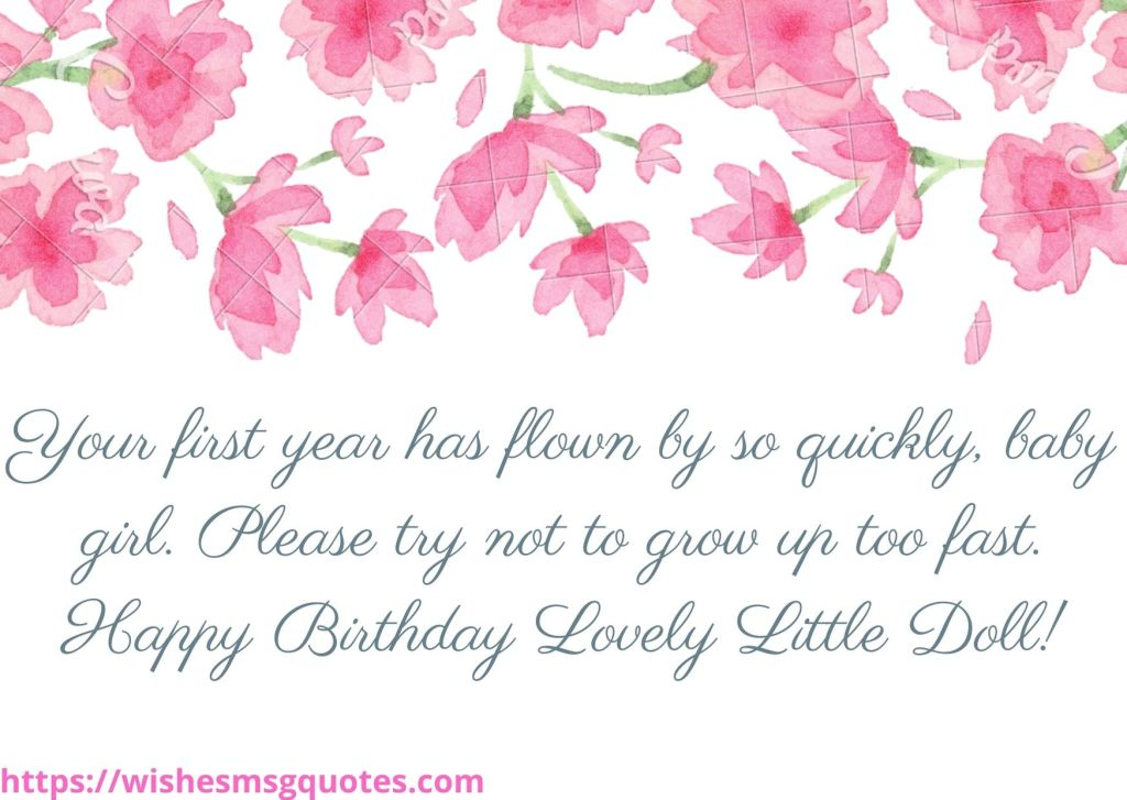 1st Birthday Quotes From Aunt To Baby Girl