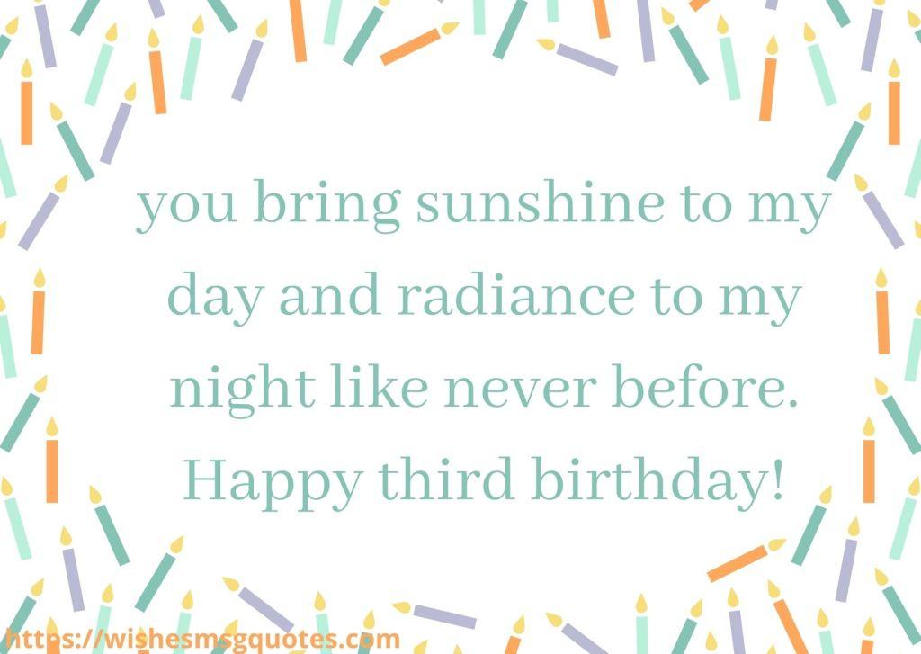 Birthday Wishes For Baby Boy 3rd Birthday