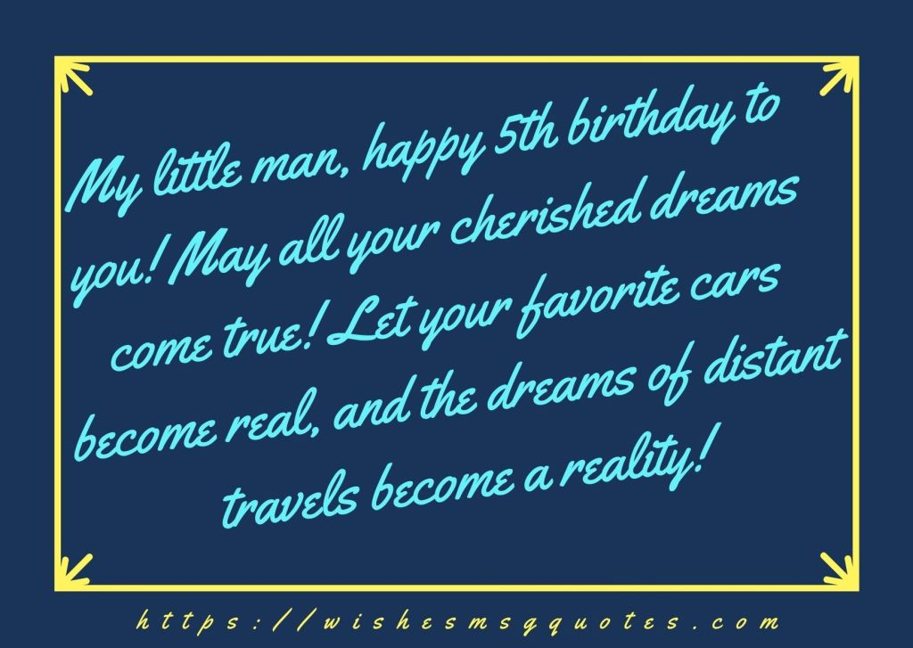 5th Birthday Wishes For 5 Year Boy