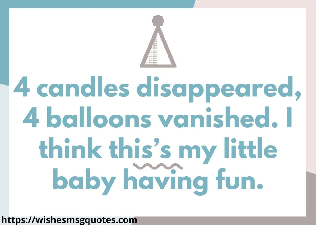 4th Birthday Quotes From Aunt To Baby Boy