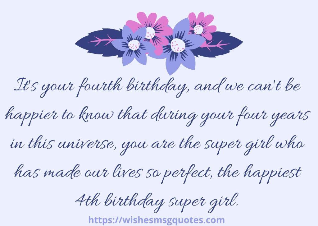 Birthday Wishes For Baby Girl 4th Birthday