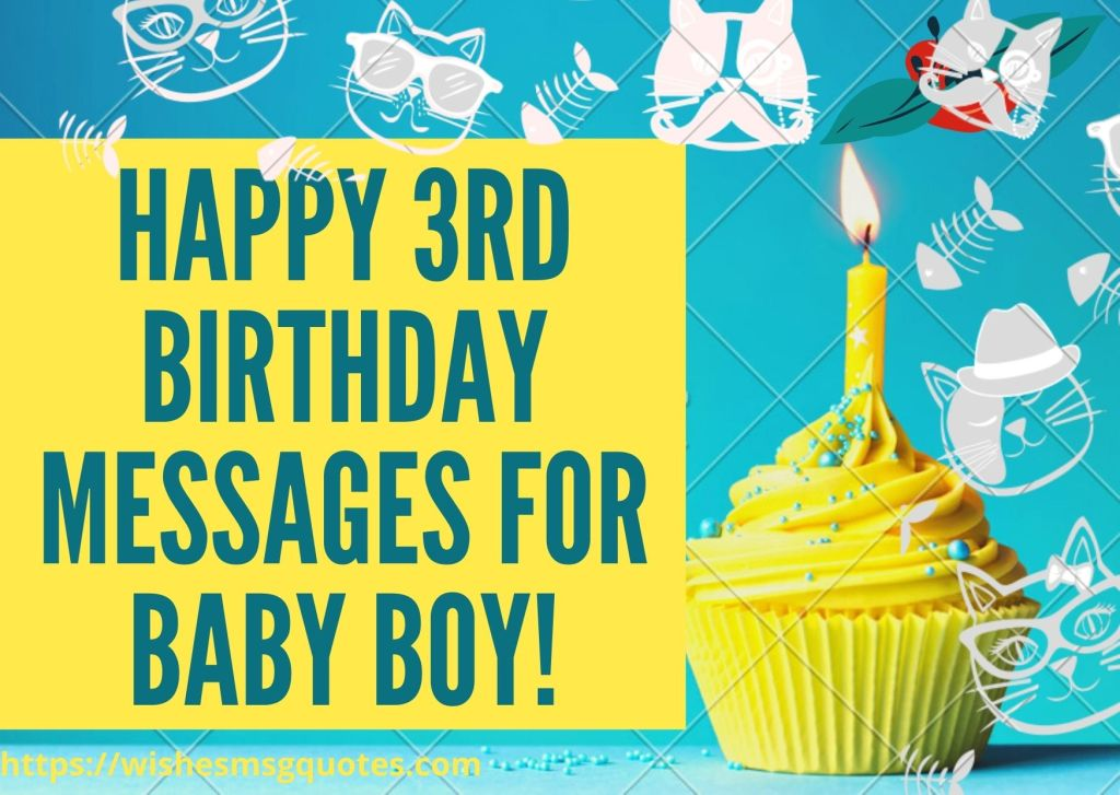 Happy 3rd Birthday Messages For Baby Boy