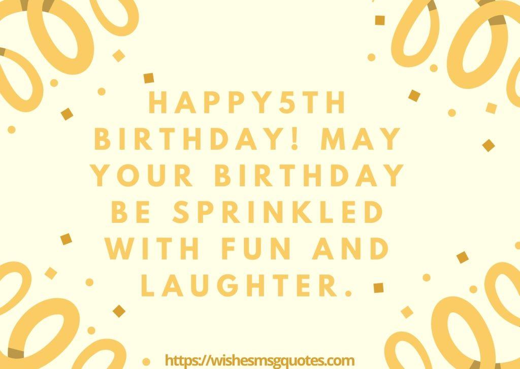Birthday Wishes For Girl 5th Birthday