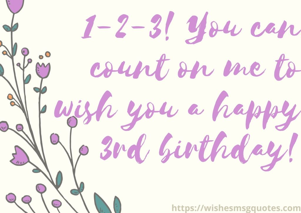 3rd Birthday Quotes From Mother To Baby Girl