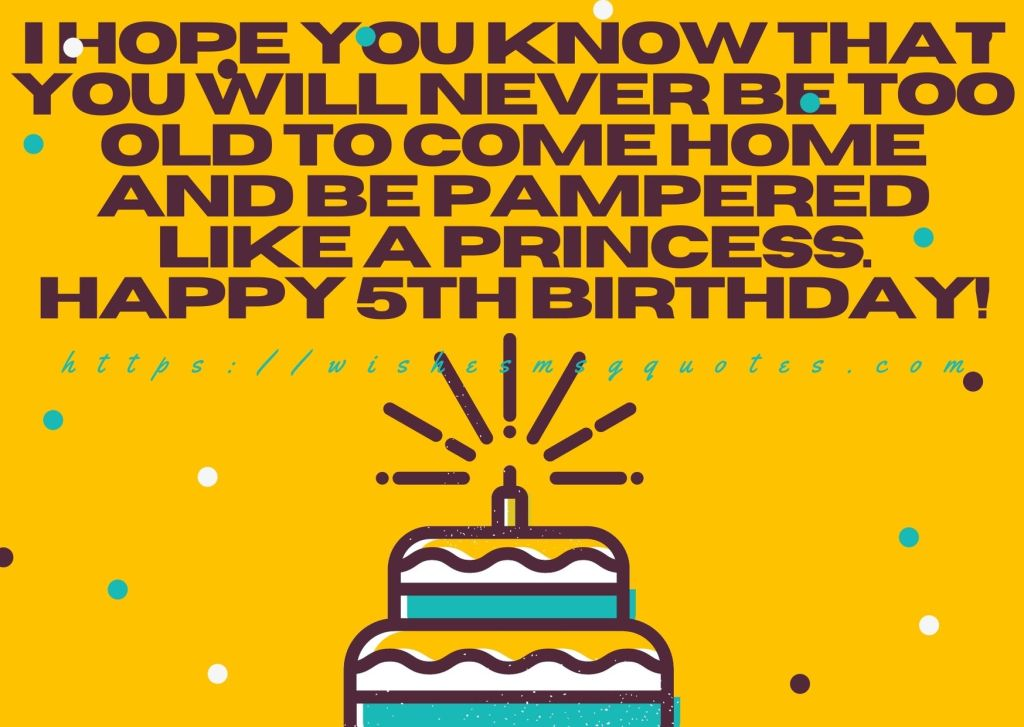 5th Birthday Messages From Mother To Girl