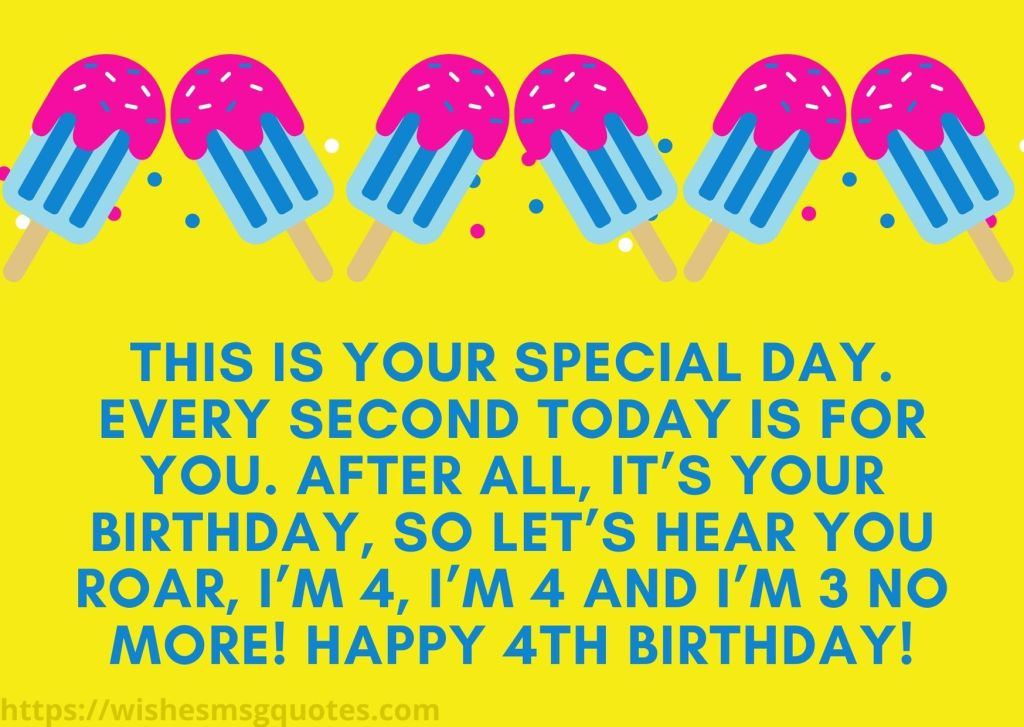 Birthday Quotes For Baby Girl 4th Birthday