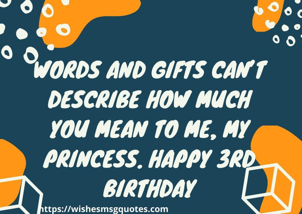 Birthday Messages For Baby Girl 3rd Birthday