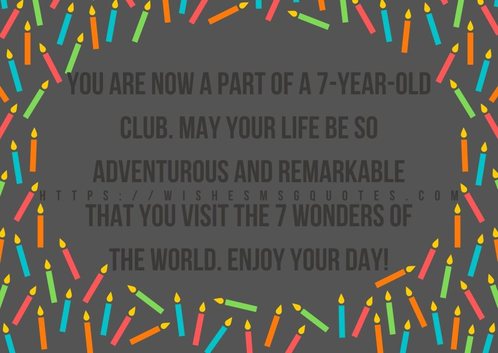 7th Birthday Quotes From Grandmother To Boy