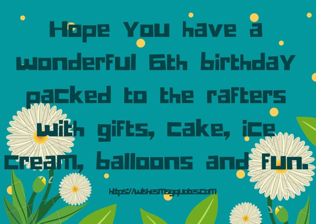 6th Birthday Quotes From Grandfather To Girl