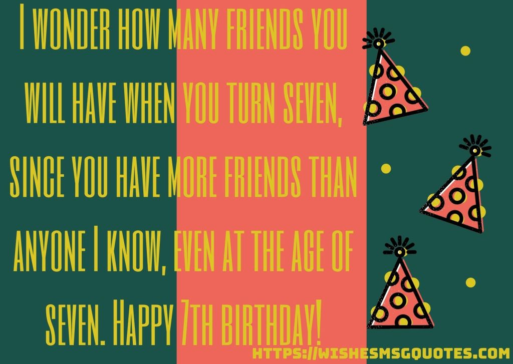 Cutest 7th Birthday Quotes For Boy From Mother