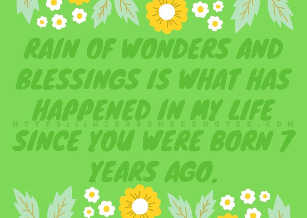 Birthday Messages For Boy 7th Birthday