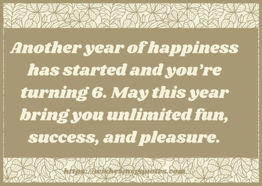 6th Birthday Quotes From Mother To Girl