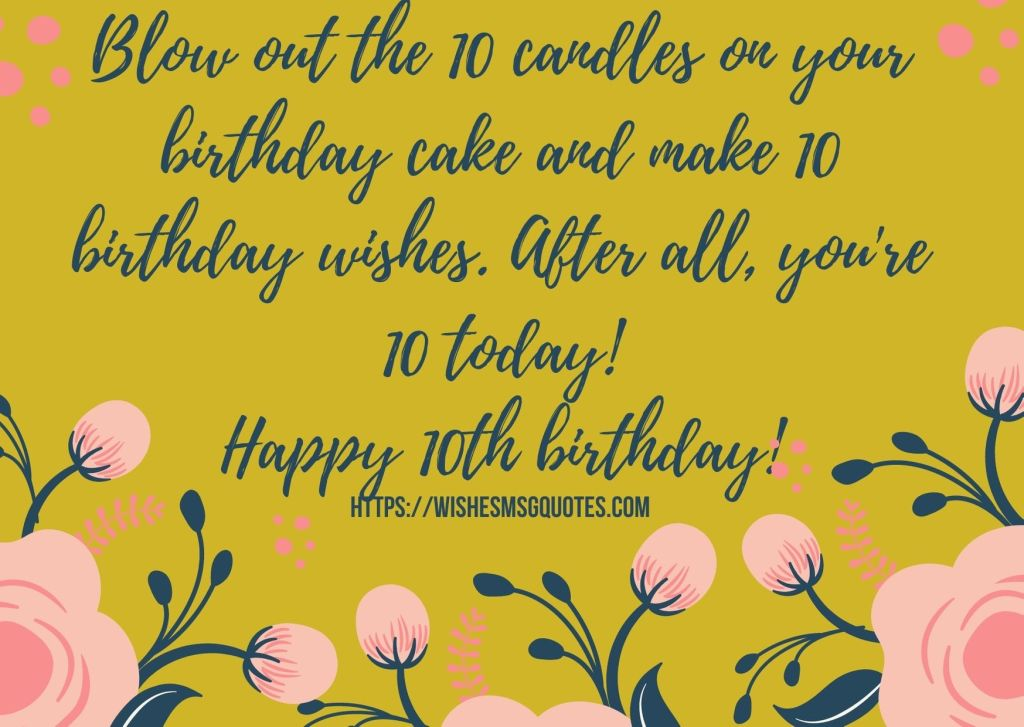 10th Birthday Wishes From Grandfather To Boy