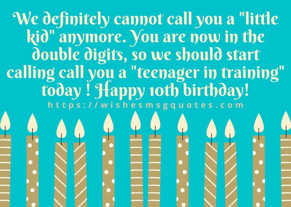 10th Birthday Wishes From Grandmother To Boy