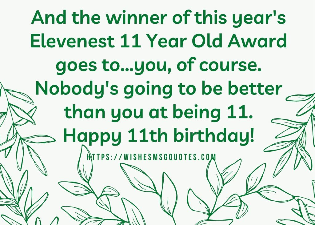 11th Birthday Quotes From Mother To Boy/Girl