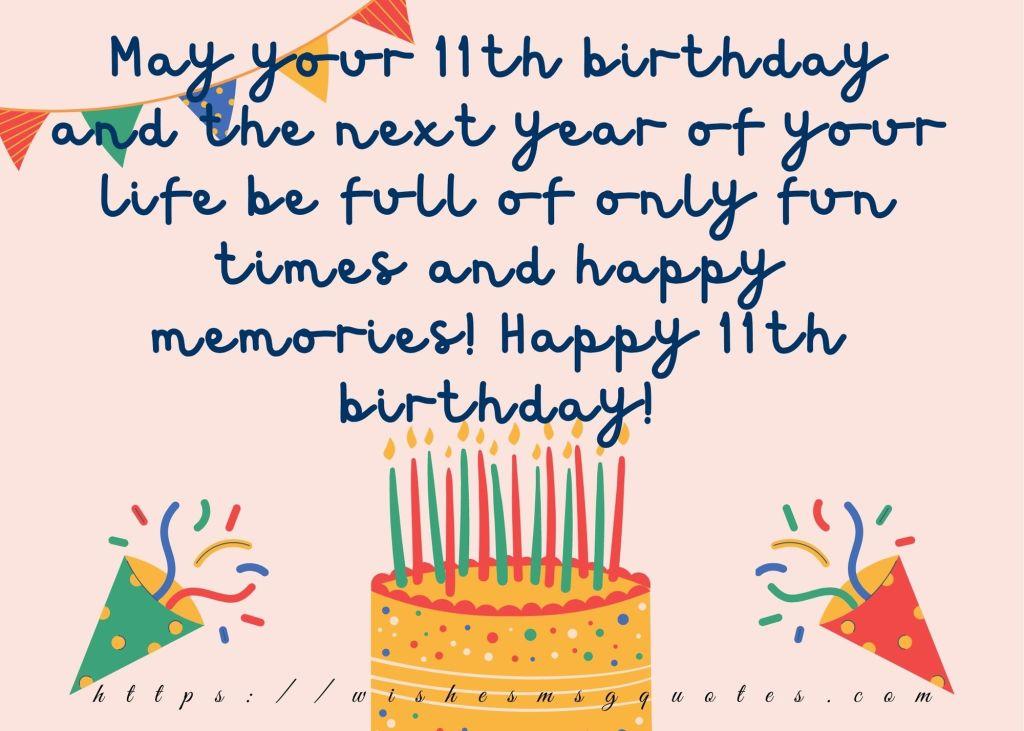 Happy 11th Birthday Wishes For Boy & Girl