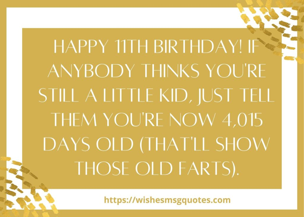 11th Birthday Messages From Aunt To Boy/Girl