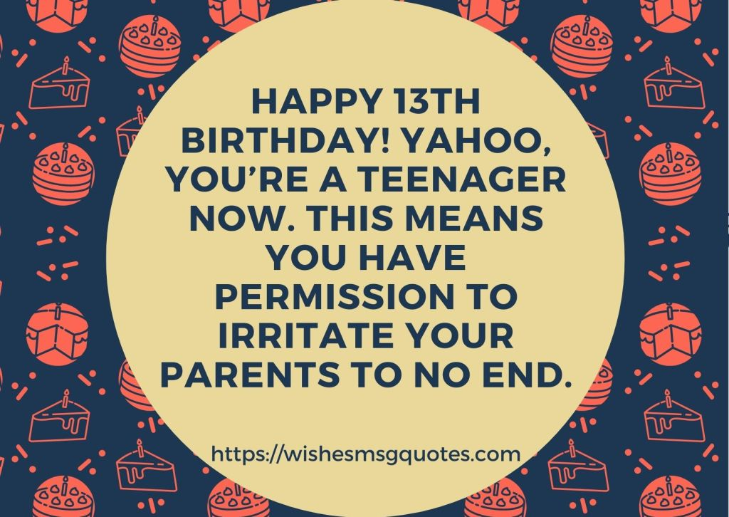 Happy 13th Birthday Quotes From Parents