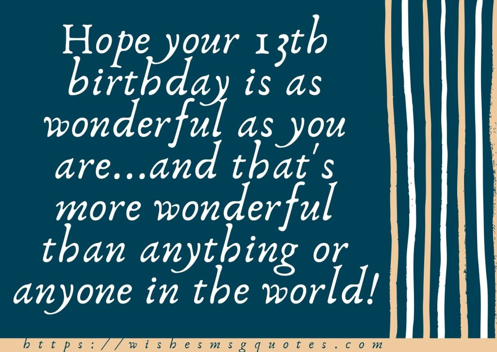 13th Birthday Wishes From Grandfather To Boy Or Girl