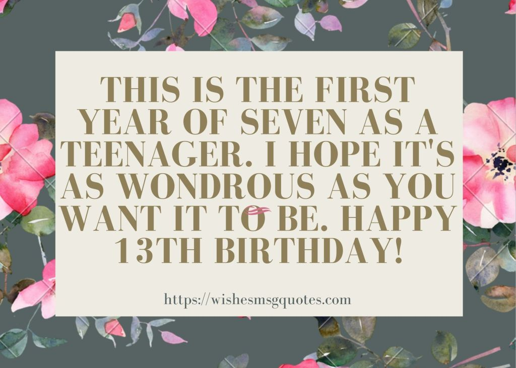 13th Birthday Quotes From Aunt To Boy Or Girl