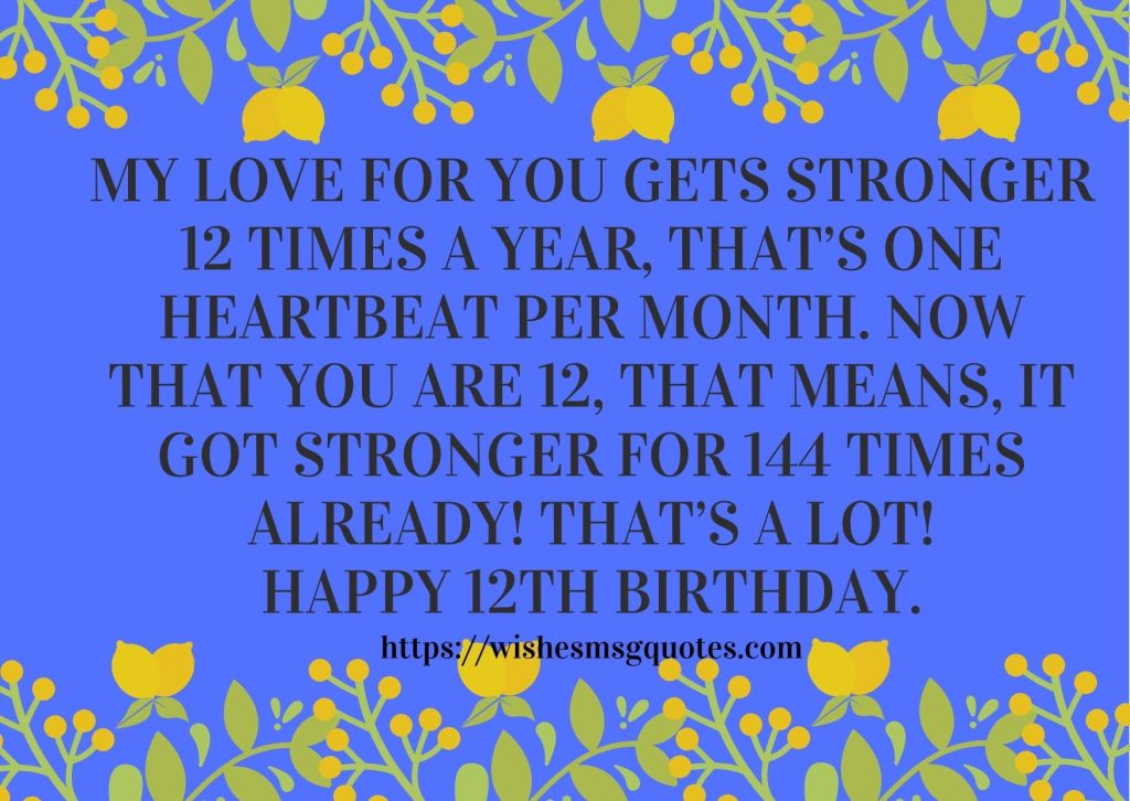 12th Birthday Messages From Sister To Boy Or Girl