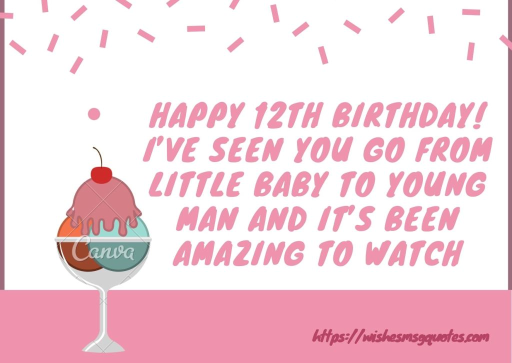Happy 12th Birthday Messages For Grandson/Granddaughter