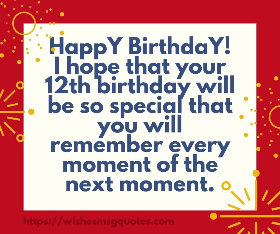 12th Birthday Messages From Aunt To Boy Or Girl