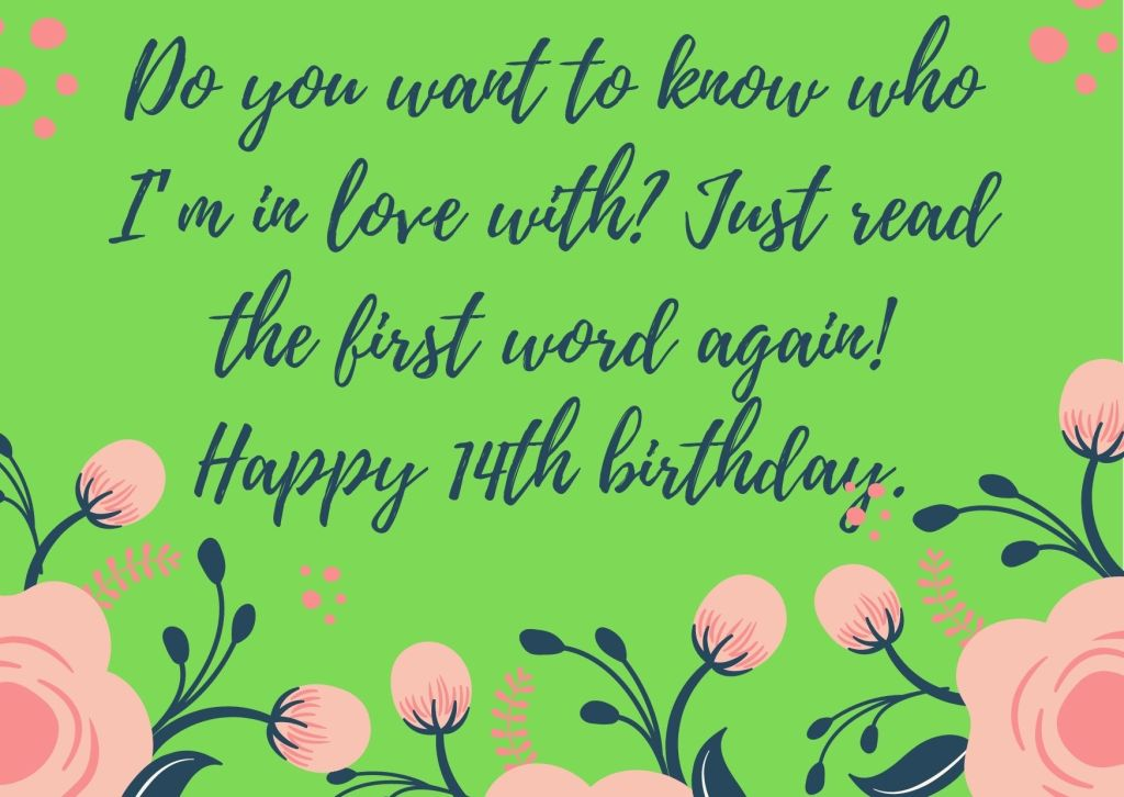 14th Birthday Messages From Aunt To Boy Or Girl