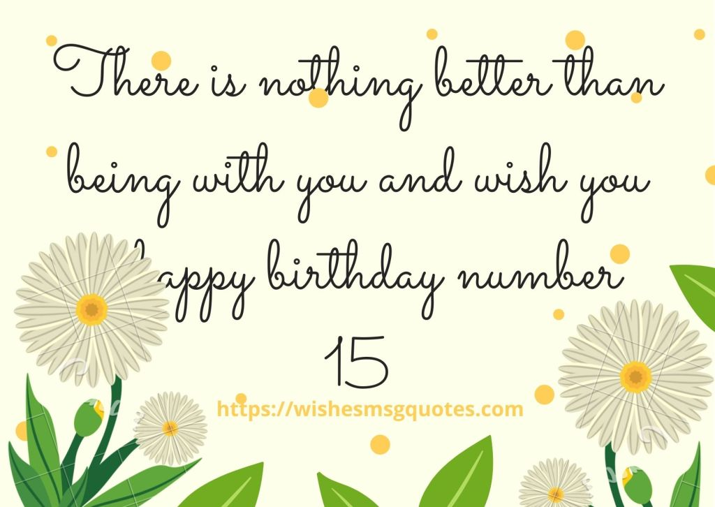 15th Birthday Quotes From Classfellow To Boy Or Girl